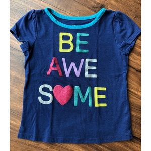 Girls Toddler 3T Be Awesome Epic Threads T-Shirt